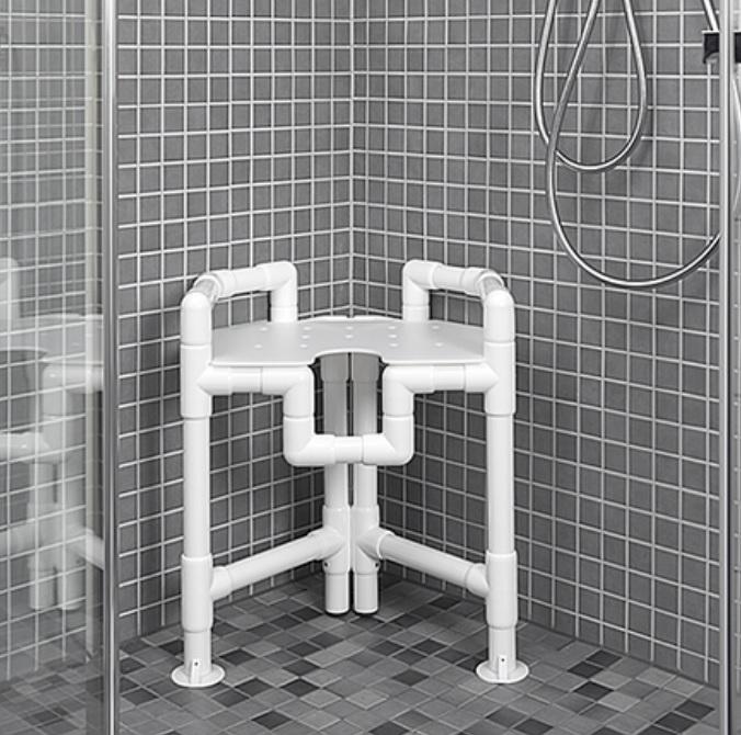 Rohová sprchová stolička DWH 86